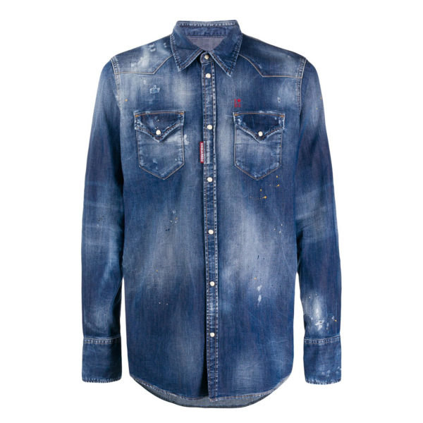 DSQUARED2 SHIRT S74DM0392-S30341-470 BLUE