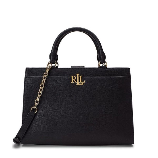 RALPH LAUREN LEATHER BAG 431746234-001 BLACK
