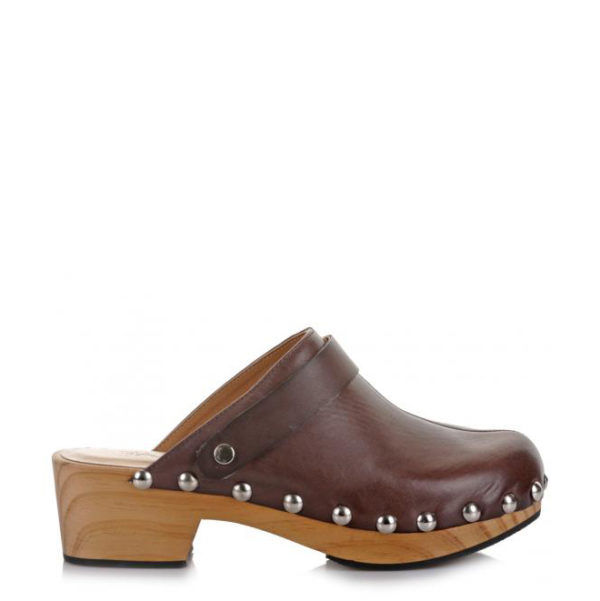FAVELA LEATHER SHOES 69W-155216 BROWN