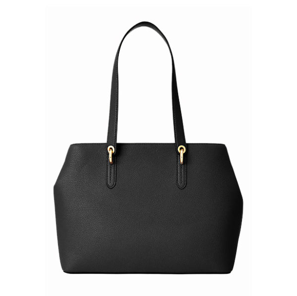 RALPH LAUREN LEATHER BAG 431767766-001 BLACK