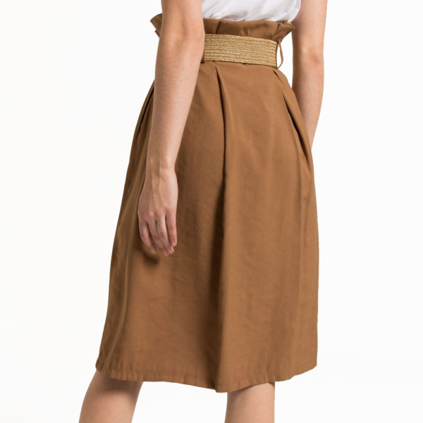 SILVIAN HEACH MIDI SKIRT PGP20515GO-W3470 BROWN