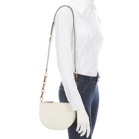 RALPH LAUREN SUTTON MEDIUM LEATHER BAG 431791617-001 CREAM