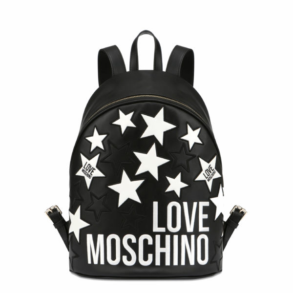 MOSCHINO LOVE BACKPACK JC4086PP1ALM0000 BLACK / WHITE