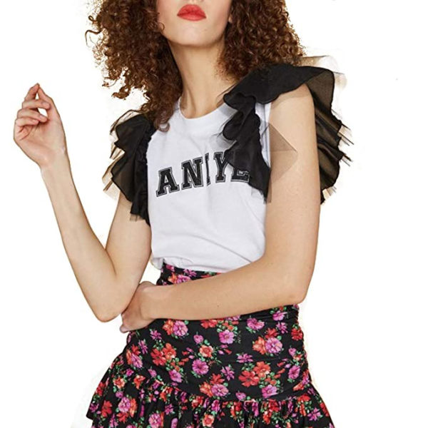 ANIYE BY T-SHIRT WITH WINGS 185075 WHITE