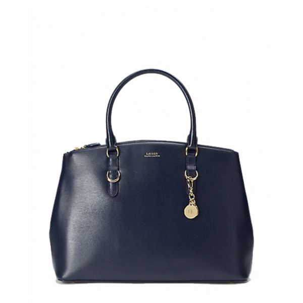RALPH LAUREN LEATHER BAG 431746679-010 BLUE