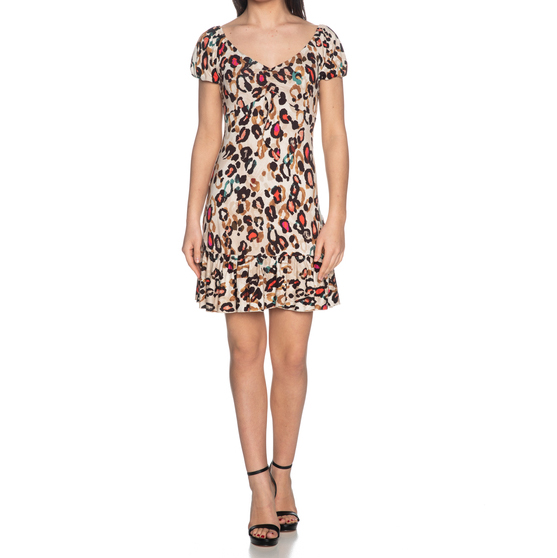 LIU JO DRESS FA0029J5959-U9895 ANIMAL PRINT