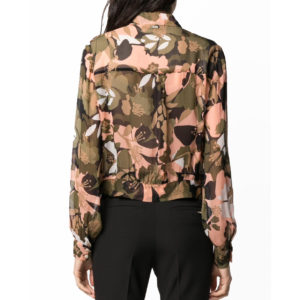 LIU JO SEE THROUGH SHIRT WA0001T5441-U9573 FLORAL CAMU