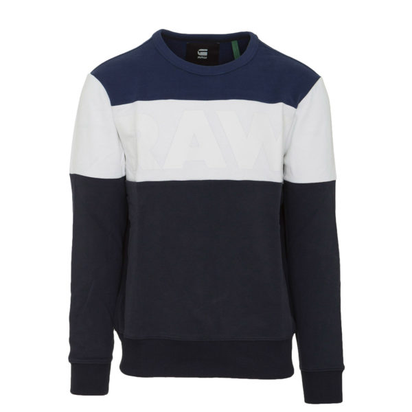 G-STAR M LIBE CORE SWEATER D15256.B349-A497 93-NAVY/WHITE