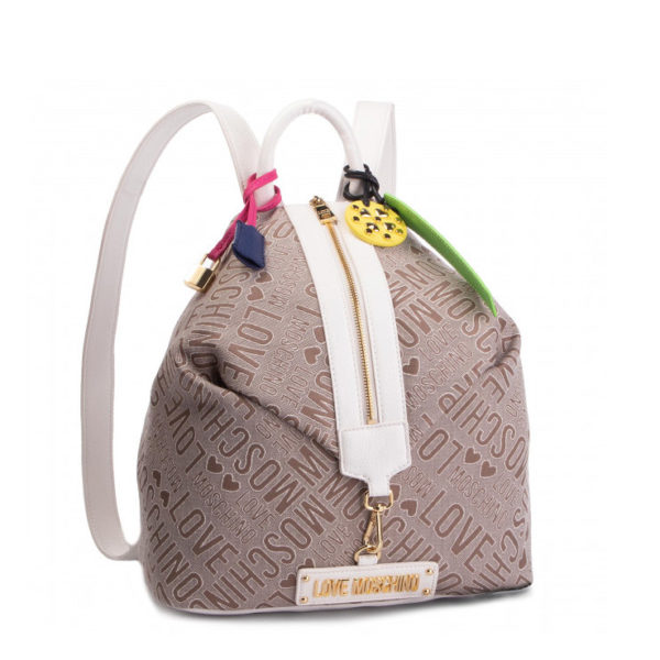 LOVE MOSCHINO BACKPACK JC4219PP07KB110A BEIGE-WHITE