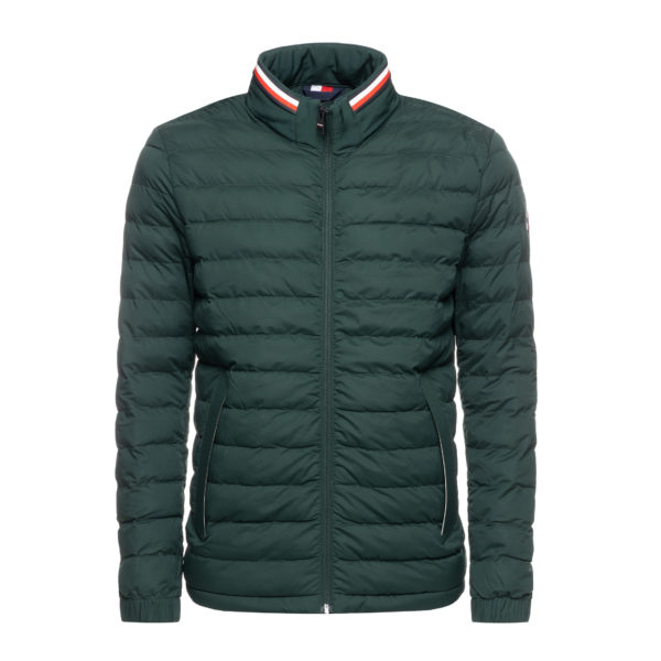 TOMMY HILFIGER STRETCH QUILTED JACKET MW0MW11495-PINE GROVE