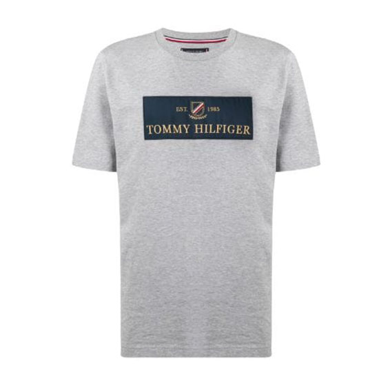 TOMMY HILFIGER FLAG T-SHIRT RELAXED FIT MW0MW11832-GREY