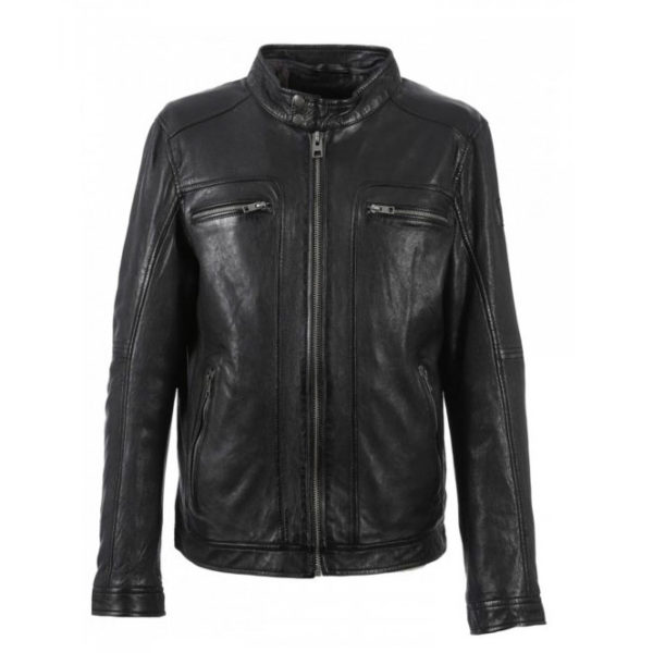 OAKWOOD LEATHER JACKET 63036-BLACK