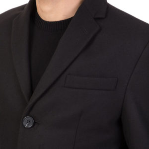 SSEINSE  COAT GB317SS-BLACK