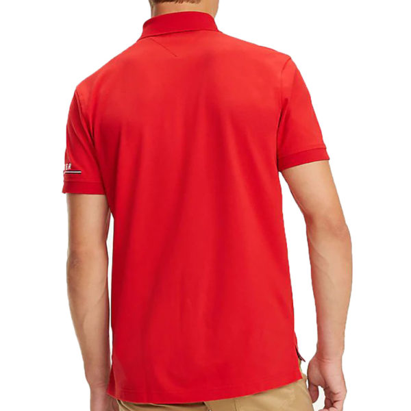 TOMMY HILFIGER LOGO REGULAR POLO MW0MW10126 611-HAUTE RED
