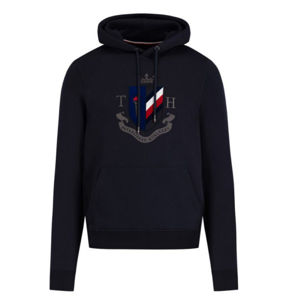TOMMY HILFIGER CREST ARTWORK HOODY MW0MW11555-DARK BLUE