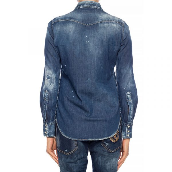 DSQUARED2 DENIM SHIRT S75DL0713-S30341-470 BLUE