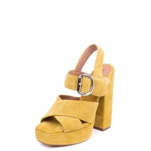 JEFFREY CAMPBELL ELVINA HIGH HEELED PLATFORMS  0101001860 YELLOW