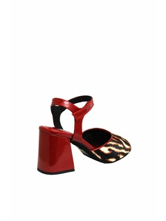 JEFFREY CAMPBELL STAND 2 HEELED SANDALS 0101002487 RED