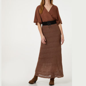 LIU JO DRESS WITH BELT CA0078MA32H-04959 CAAMEL