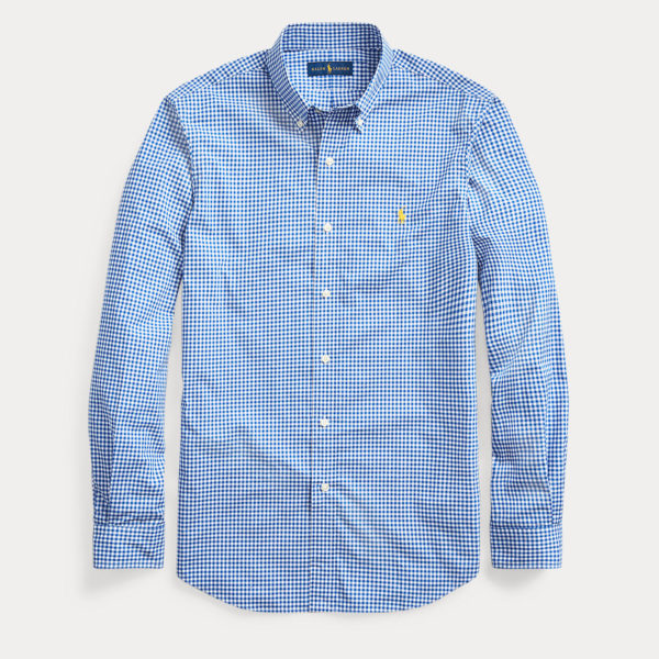 RALPH LAUREN STRETCH CUSTOM FIT SHIRT 710784282-001 BLUE