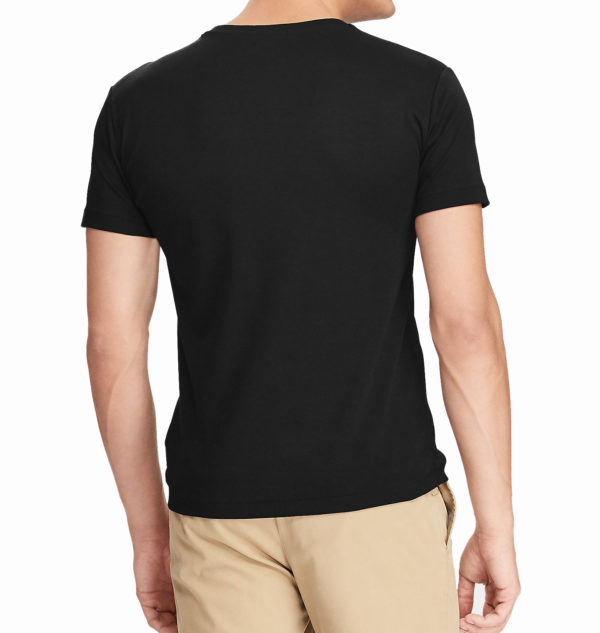 RALPH LAUREN CUSTOM SLIM FIT T-SHIRT 710740727-001 BLACK