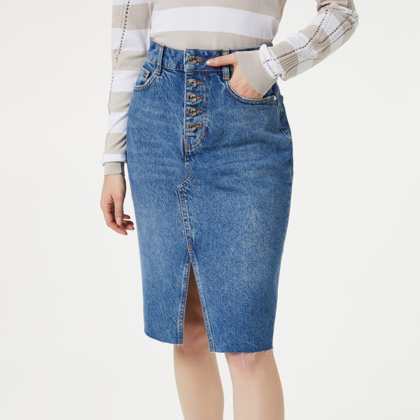 LIU JO DENIM SKIRT UA0128D4465-78041 BLUE