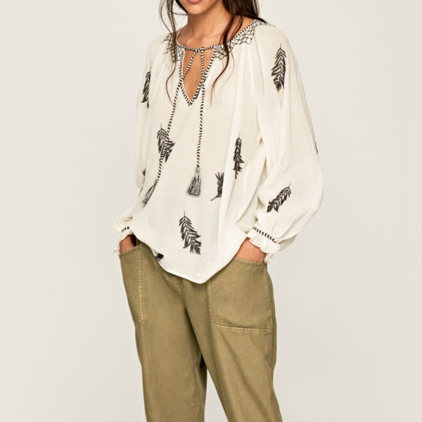 PEPE JEANS BLOUSE PL303695-835 CHAMPAGNE