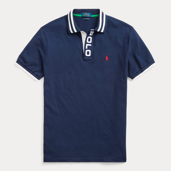 RALPH LAUREN CUSTOM SLIM FIT POLO 710790854-001 NAVY