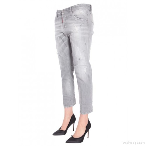 DSQUARED2 COOL GIRL CROPPED JEAN S75LA0945 S30260 852-GREY
