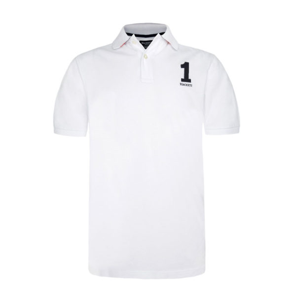 HACKETT LOGO S/S POLO SHIRT HM561197 800-WHITE