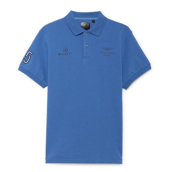 HACKETT LOGO S/S POLO SHIRT HM562103 502-OXFORD BLUE
