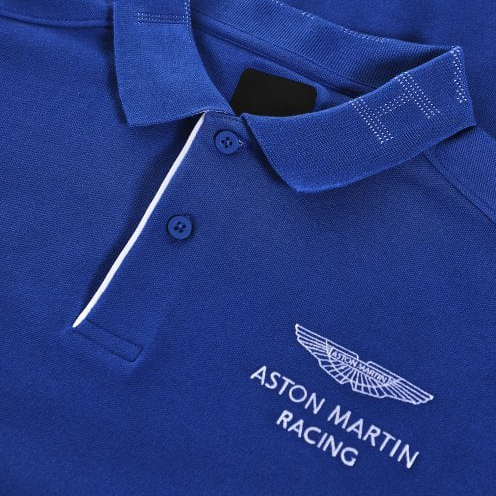 HACKETT LOGO S/S POLO SHIRT HM562350 531-MIDDLE BLUE