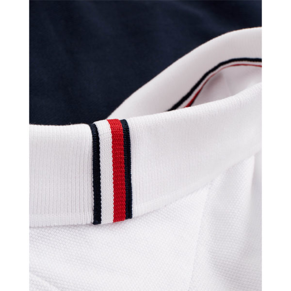 TOMMY HILFIGER GS INSERT COLORBLOCK SLIM POLO MW0MW13093-0A4 WHITE