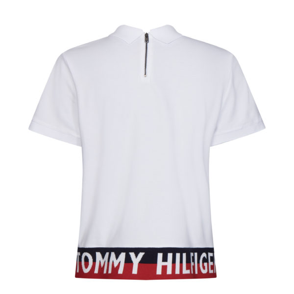TOMMY HILFIGER POLO BLOUSE WW0WW28005-YBR WHITE