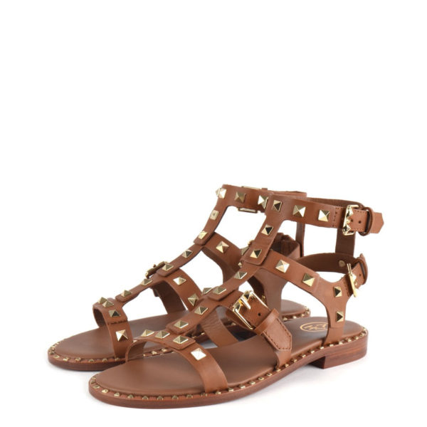 ASH PACIFIC LEATHER SANDALS 41216 BROWN