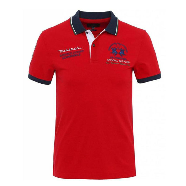 LA MARTINA MAN POLO PIQUET STRETCH LMPM30 PK001 06003-TRUE RED