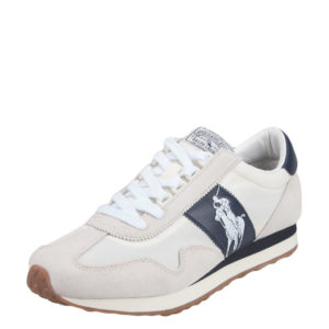 POLO RALPH LAUREN TRAIN 90 SUEDE MESH SNEAKER – WHITE