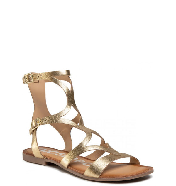 GIOSEPPO LEATHER SANDALS 58328 GOLD