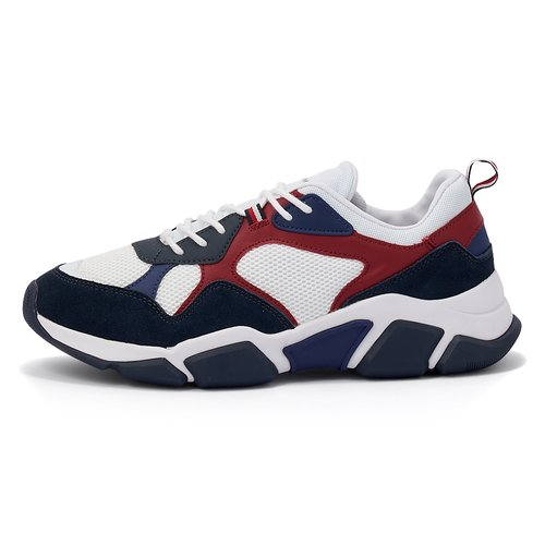 TOMMY HILFIGER CHUNKY MATERIAL MIX SNEAKER SPORTS FM0FM02660-YBS WHITE