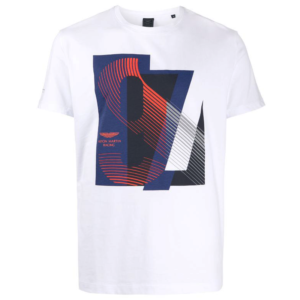 HACKETT AMR RACING PRINT T HM500407-800-WHITE