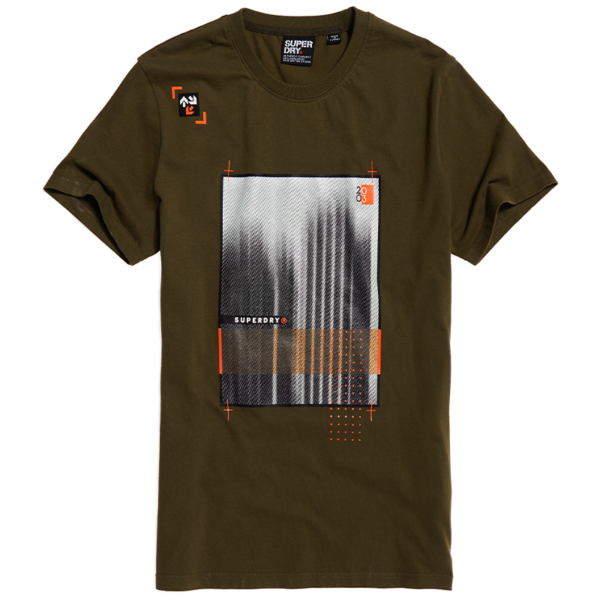 SUPERDRY ALCHEMY VISION TEE T-SHIRT M1010052A-BC3-CHIVE