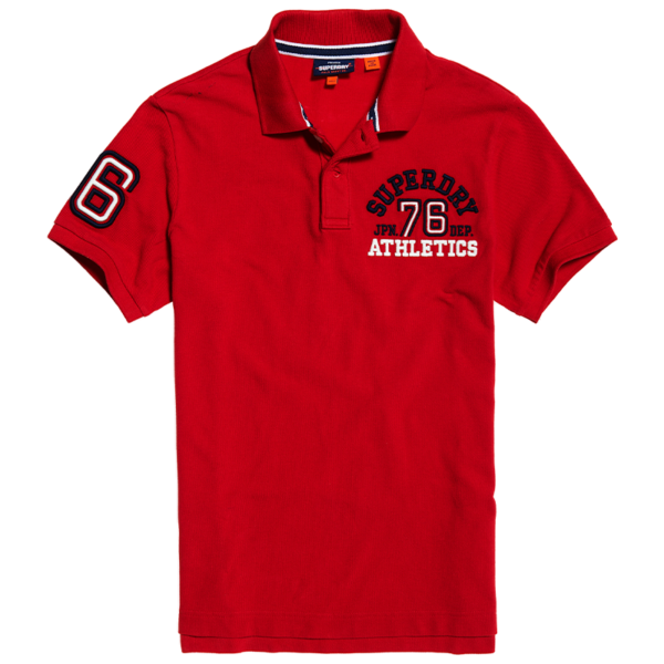 SUPERDRY CLASSIC SUPERSTATE S/S POLO M1110008A-WA7-ROUGE RED