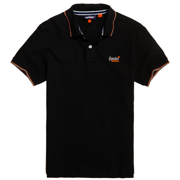 SUPERDRY POOLSIDE PIQUE S/S POLO M1110013A-02A-BLACK