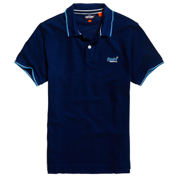 SUPERDRY POOLSIDE PIQUE S/S POLO M1110013A-98T-ECLIPSE NAVY