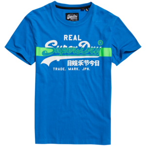 SUPERDRY CROSS HATCH TEE M1010090A-89G-ELECTRIC BLUE
