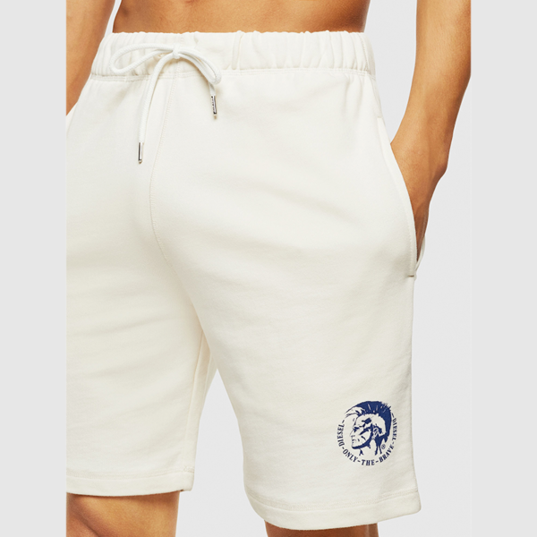 DIESEL UMLB-PAN CALZONCINI SHORT PANTS 00ST2A-0CAND-129-WHITE