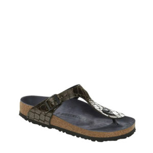 BIRKENSTOCK GIZEH BS GATOR GLEAM 1016420-BLACK