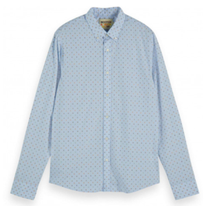 SCOTCH & SODA REGULAR FIT- SHIRT WITH MINI ALL-OVER JACQUARD PATTERN 155162-0217-COMBO A