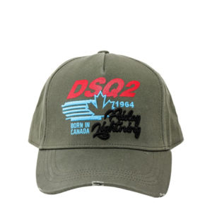 DSQUARED2 CAP BCM0316-05C0001-8066 ARMY GREEN