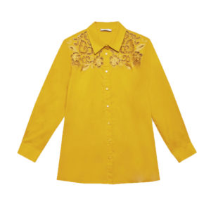 ELENA MIRO SHIRT EMBROIDERED SHIRT 5206T000P6 18-GIALLO